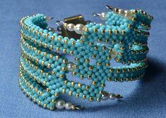 Браслет Голубая лагуна | biser.info - всё о бисере и бисерном творчестве