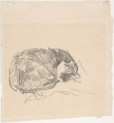 Édouard Manet (French, 1832–1883). A Cat Curled Up, Sleeping, 1861