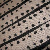 Buds (in black) hand screen-printed fabric yardage / meterage designed by Pippijoe.