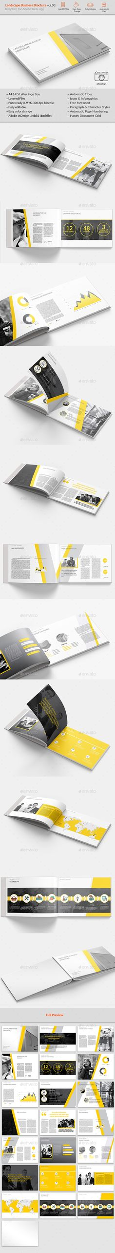 Landsape #Business #Brochure vol.03 - Brochures #Print Templates Download here: https://graphicriver.net/item/landsape-business-brochure-vol03/19751200?ref=alena994