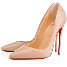 So Kate 120 Nu Leather - Women Shoes - Christian Louboutin (€560) ❤ liked on Polyvore featuring shoes, pumps, christian louboutin, christian louboutin stilettos, pointed toe stiletto pumps, christian louboutin pumps, leather pointed toe pumps and high heel stilettos