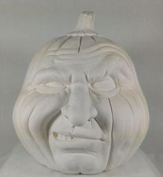 Ceramic Pumpkin face  Ready to Paint  Holloween by ArtsonFirePlano, $18.98