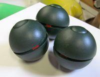 Home made flash bang grenades.