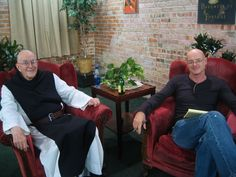 """""""The Bald Boys of Colorado"""" — Trappist monk Thomas Keating and integral theorist Ken Wilber."""