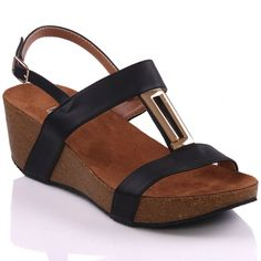Unze Womens 'Yesha' Wedge Buckled Sandals - >> Additional details found at the image link : Jelly Sandals Jelly Shoes, Jelly Sandals, Shops, London, Wedges, Image Link, How To Wear, Women, Fashion