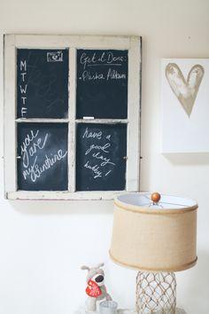 DIY Chalkboard Window frame / picture frame