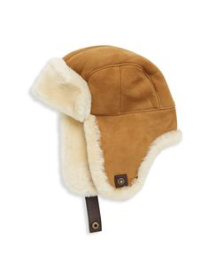 Ugg Australia Shearling Trapper Hat - Chestnut Large/X-Large Trapper Hats, Cozy Fashion, Winter Accessories, Ugg Australia, Uggs, Winter Hats, Chic, Slate, Leather