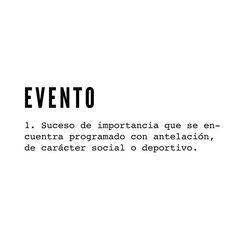 ✔ evento