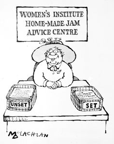 WOMEN'S INSTITUTE HOME-MADE JAM ADVICE CENTRE by EDWARD MCLACHLAN City Of Cambridge, Womens Institute, How To Make Jam, Craft Club, Book Publishing, Original Artwork, Jam Making, Advice, Homemade