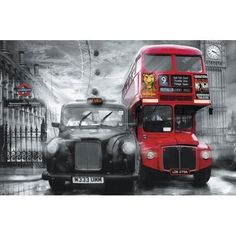 Brewster DM698 Taxi And Bus Wall Mural, Black