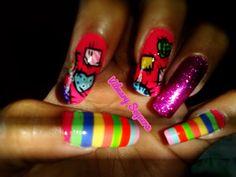 Fantasía de parches Nails, Painting, Beauty, Patches, Finger Nails, Beleza, Ongles, Painting Art, Nail