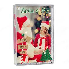 Personalised 6x4 Glitter Shaker Photo Frame - Santa & Me Personalized Photo Frames, Personalized Gifts, Glitter Roots, Glitter Tip Nails, Christmas Themes, Holiday Decor, Meet Santa, Glitter Frame
