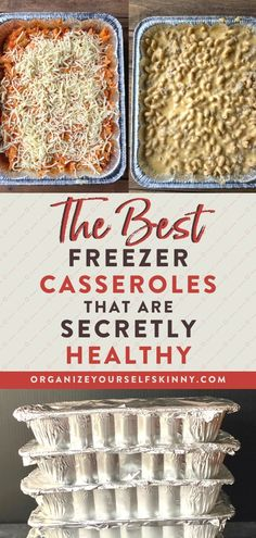 "Freezer Meal Prep "">The Best Make Ahead Freezer Casseroles That Are Secretly Healthy The featured image was randomly selected. Freezable Meals, Make Ahead Freezer Meals, Freezer Cooking, Easy Meals, Freezer Dinner, Inexpensive Meals, Budget Recipes, Frugal Meals, Freezer To Crockpot Meals"