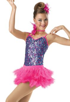 Sequin Leo with Feather Skirt; Weissman Costumes