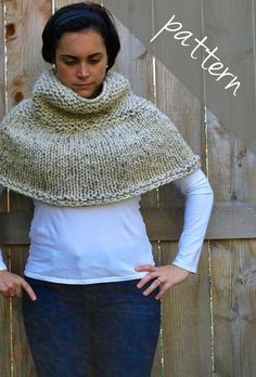 Knitting PATTERN - Poncho Cape - Chunky Cape - Easy for sale on Etsy...looks like a good one!