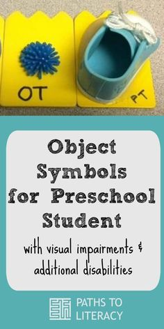 Object symbols for preschool students with visual impairments and additional disabilities
