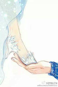 Queen Elsa and Jack Frost jelsa cinderella