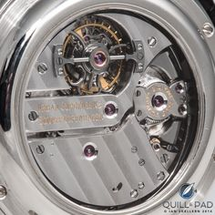 The beautifully finished movement visible through the display back of the Urban Jürgensen Tourbillon Minute Repeater