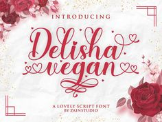 Hello, We proudly presenting our new font. Delisha Vegan is a modern calligraphy font with special heart characters. It can add a romantic touch to any crafting project! And this font that is perfect for a variety of designs. Calligraphy Fonts, Modern Calligraphy, Wedding Fonts, Wedding Invitations, Signature Fonts, Cricut Fonts, Handwriting Fonts, Modern Fonts, Premium Fonts