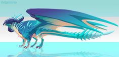 [Character Auction] Reefscale [OPEN] by Dinkysaurus on DeviantArt Cool Dragons, The Adventure Zone, Dragon Design, Mythological Creatures, Dragon Art, 3d Animation, Creature Design, Cool Art, Concept Art