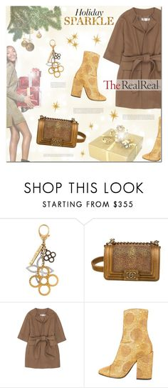 """Holiday Sparkle With The RealReal: Contest Entry"" by zoja30 ❤ liked on Polyvore featuring H&M, Louis Vuitton, Chanel, STELLA McCARTNEY, Dries Van Noten, polyvorecontest and TheRealReal"