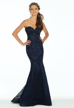 Beaded Lace Trumpet Dress with Shawl from Camille La Vie and Group USA #homecoming #prom