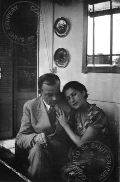 Book Writer, Book Reader, Famous Couples, Couples In Love, St Exupery, Photo Vintage, Writers And Poets, Nice France, People Of Interest