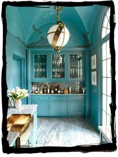Blue Butler's Pantry from  have some decorum: July 2014. maps and globes...