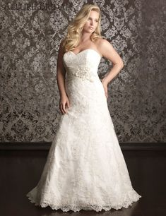allure bridal plus size | Plus Size Wedding Dress Shopping Tips and Ideas from Five Bridal ...