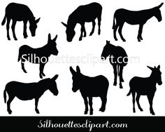 Eight individual vector elements are added to this Donkey Vector Graphics ideal for animal vector illustrations and zoo graphic designs.