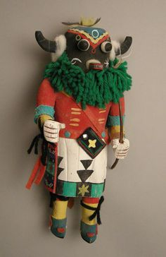 Hopi A'hote Kachina Doll, c.1950-60