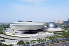 New York studio Ennead Architects has completed the world's largest museum dedicated to astronomy in Shanghai, China. Bamboo Structure, Green Zone, New York Studio, New Museum, Immersive Experience, Ground Floor Plan, Main Entrance, Design Museum, Architect Design
