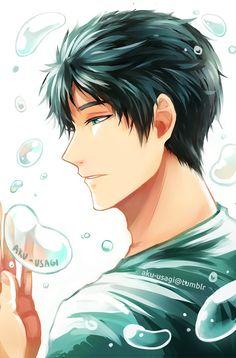 Bubble series Sousuke ... From aku-usagi ... Free! - Iwatobi Swim Club, free!, iwatobi, sousuke, sousuke yamazaki, yamazaki