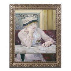 Plum Brandy 1877 by Edouard Manet Framed Painting Print