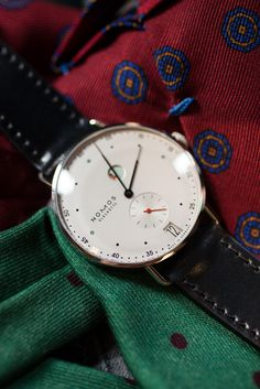 jhilla: The Nomos Metro. The Armoury NYC was lucky enough to take delivery of a Metro recently. Conceived by Mark Braun, a berlin based designer, the simplicity of the Metro is really what stands out. In a sense, it's a lesson in restraint. Using only a handful of colors and showing only the time, running seconds, and date, it's the details that stand out. I particularly like the power reserve indicator at 1 o'clock, something that Nomos has patented, as well as the oxidized black hands…