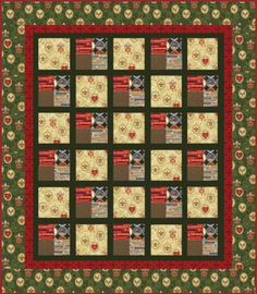 Boy Scout Quilt pattern (if you can find the fabrics now, )-:  )