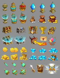 Dragon Hunter icons Game Concept, Concept Art, Pixel Art, Card Game, Coin Icon, Casual Art, 2d Game Art, Game Ui Design, Game Props