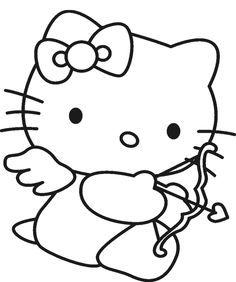 Hello Kitty Is Being Hold Doll Coloring Page Hello Kitty