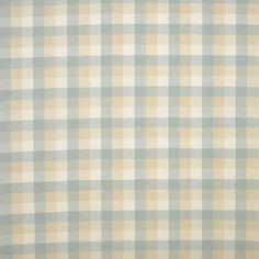 Laura Ashley Mitford Check Cotton Fabric Duck Egg