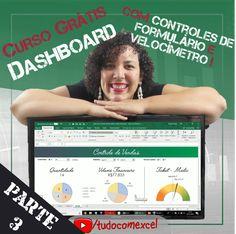 PARTE 3 do curso completo de construção de Dashboard, agora utilizando controles de formulário do Excel e um gráfico de velocímetro, todo personalizado, e tudo isso sem nenhuma linha de programação!  https://youtu.be/5HReTIdgI4Q #excel #planilha #tudocomexcel #dashboard #office