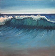 Wave,   2015,  oil painting,   www.ojam.eu #painting #wave #ocean