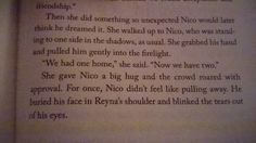 Reynico! When I was reading this part I was like: Oh. My. Gods. THEY ARE GOING TO KISS! Oh. A hug? Okay it's a good begining