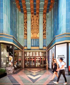 Art Deco Los Angeles - The New York Times / The entrance of the Eastern Columbia Building features a terra cotta sunburst detail.