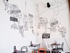 shaky isles coffee co auckland wall illustration - Recherche Google