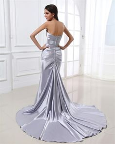osell wholesale dropship Fashion Gorgeous Sheath Sweetheart Sweep Charmeuse Women's Evening Prom Dress $77.49