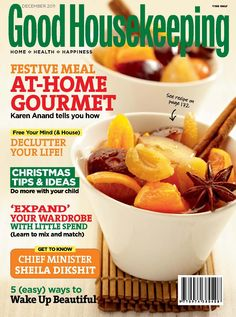 Get your digital subscription/issue of Good Housekeeping India-December 2011 Magazine on Magzter and enjoy reading the magazine on iPad, iPhone, Android devices and the web. Desi Masala, Declutter Your Life, Good Housekeeping, Home Health, Home Recipes, Ipod Touch, Magazines, December, Ipad