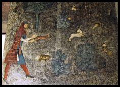 Chambre du cerf, XIV secolo, Avignone Medieval Pattern, 14th Century, Middle Ages, Fresco, Murals, Stripes, Textiles, Medical, Plaid