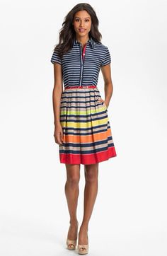 Vibrant, unique, classy... So love this dress by Ellen Tracy :)
