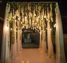Ideas wedding decoracion entrance ceremony backdrop The Effective Pictures We Offer You About wedding ceremony arch A quality picture can tell you many things. You can find the most beautiful pict Wedding Walkway, Wedding Arbors, Wedding Gate, Wedding Halls, Wedding Church, Wedding Hall Decorations, Decor Wedding, Prom Decor, Marriage Decoration