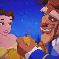 Belle and the Beast from the 1991 film